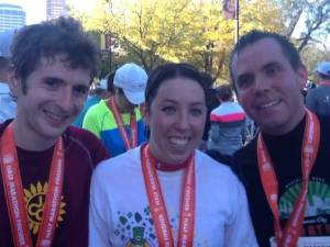 Sam, Jenny, and Jason at KC Half Marathon 2012