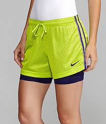 Nike Women's Double Up shorts: mesh on top with sewn in compression shorts. Long enough to stop chafing, quick drying, and very comfortable. These are my thigh's best friend.