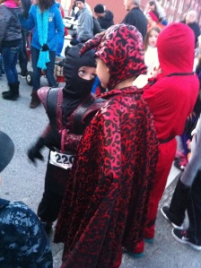 "Matthew, Jason's 9-yr-old brother, is on the right in a devil costume. This little 6-yr-old ninja was talking smack before the Kid's Run. He said, ""We can either do this this easy way or the hard way."" and I said, ""Matthew invented the hard way."" Gotta teach 'em while they're young :)"