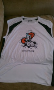 The Kansas City Trail Nerds apparel is awesome! Tech shirts that wick sweat and with SPF to protect your skin.