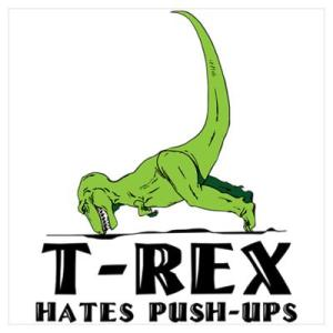 "TRex says, ""FMLA"" *(Frick My Little Arms)"