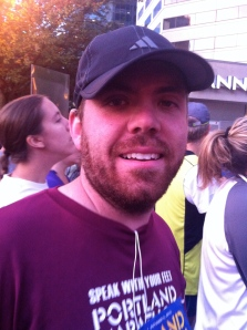 Here's Jason pre-race looking all bright-eyed and bushy bearded. He grew this beard in a week specifically to fit in with the locals