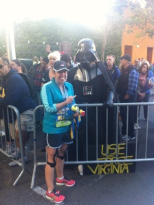 Just chillin' like a villain with my good homey, Darth Vader. He came from far far away to congratulate us!