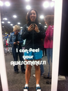Nothing like a selfie in the mirror - I also am not advocating socks and flip flops, but it was colder than I packed for.