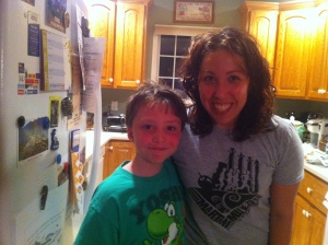 This is my Martini Mile shirt. The kid is my adorable cousin Quintin. I love his shirt too!