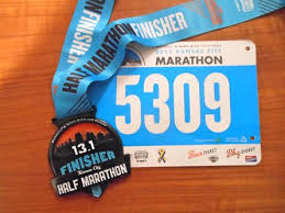 Oddly enough, this medal was bigger than our full marathon finisher medal.