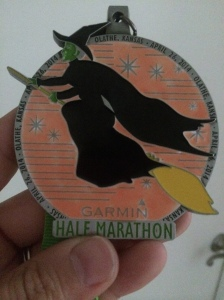 Thinking about the finisher medal is always good race motivation.