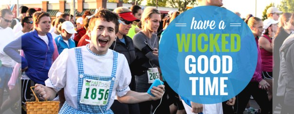 This is my friend Sam. He had no idea when he dressed as Dorothy that they would use his picture for EVERY SINGLE PROMO MATERIAL for this race for the next bajillion years. It always makes me smile though. He's such a great guy and a happy runner.
