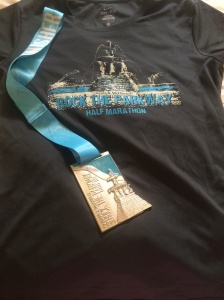 Rock the Parkway shirt and medal
