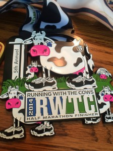 Running with the Cows might be in the middle of nowhere, but it's one of the best races around. For its 5th anniversary, it put 5 cows on the medal.