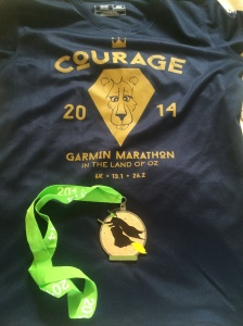 Garmin Half shirt and medal