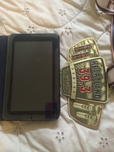 Just how big is it? Besides weighing a ton, it is the size of a small tablet.