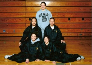 Blue Valley Track Team Senoirs 2005 (I'm middle right). I loved that damn track jacket. If the school hadn't threatened to hold our diplomas, I wouldn't have returned it. #highfashion