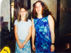 My sister Molly and I ready to party it up at church in our Easter dresses. Let's get some Jesus up in here! You'll notice my awesome sports watch which I wore with EVERYTHING. I never take it off. I've gone through a few now, but I still never take it off. It's my thunder blanket.