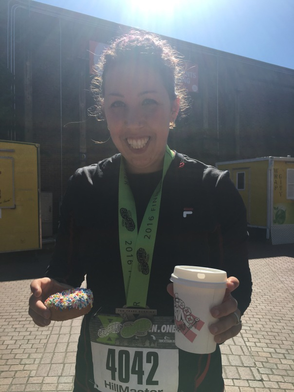 Victory is Mine! And so are the Voodoo Donuts. Def thought about these A LOT during the race.